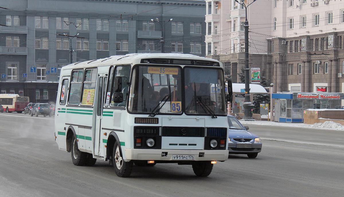 Chelyabinsk region, PAZ-32053 (30, E0, C0, B0) # У 911 РС 174