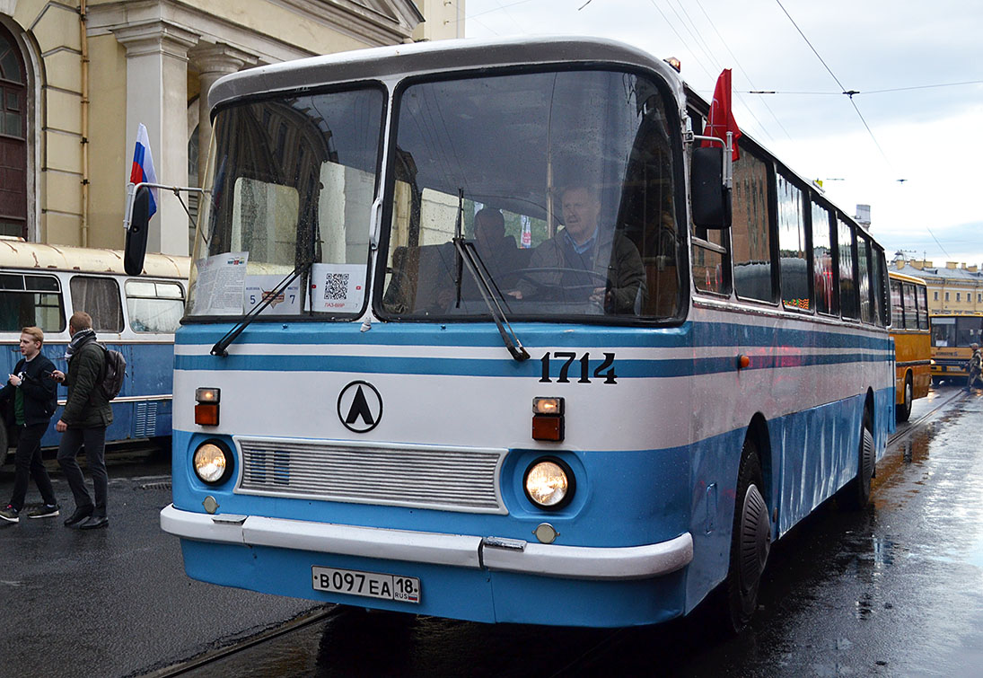 "Saint-Petersburg, LAZ-699R # 1714; Saint-Petersburg — World transport festival ""SPbTransportFest-2019"""