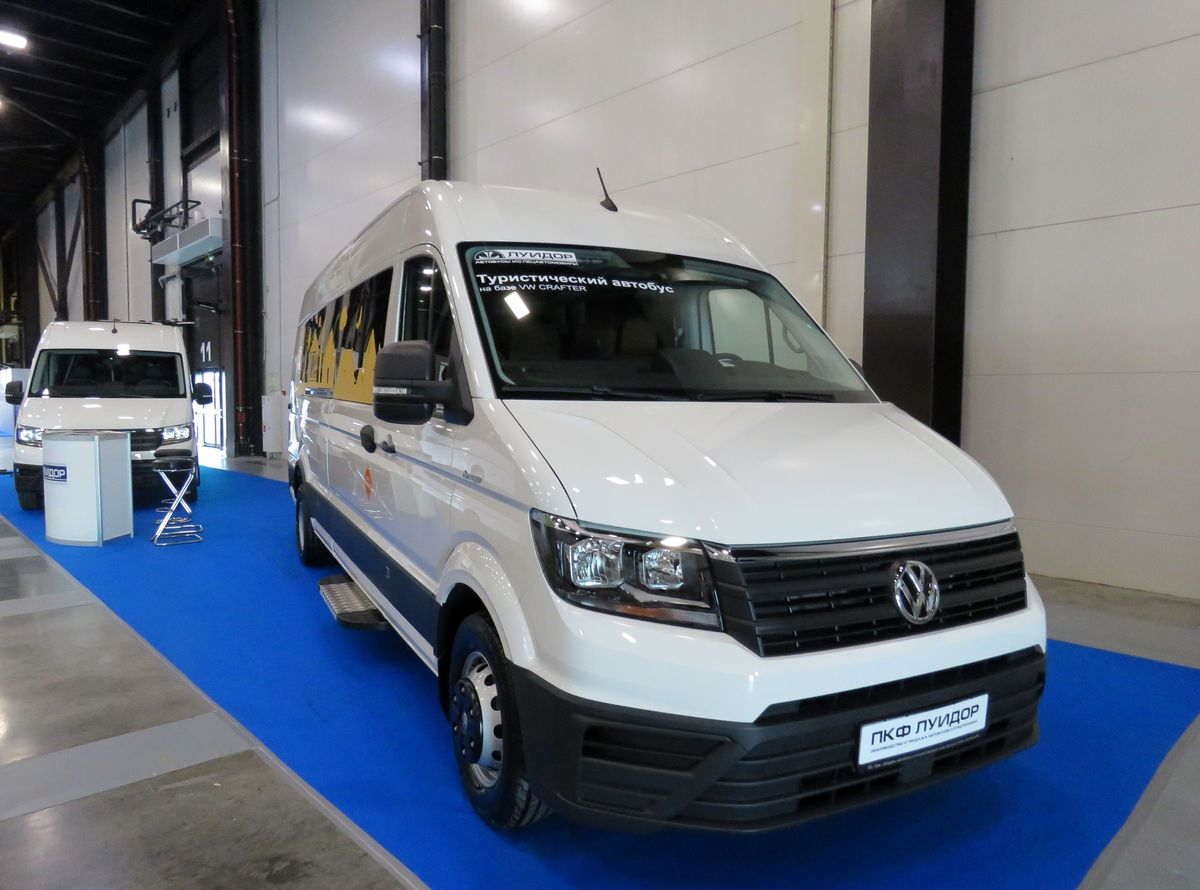 "Saint-Petersburg, Luidor-2239* (Volkswagen Crafter) # б/н-023427; Saint-Petersburg — IVth international innovation Forum of passenger transport ""SmartTRANSPORT» (2019)"
