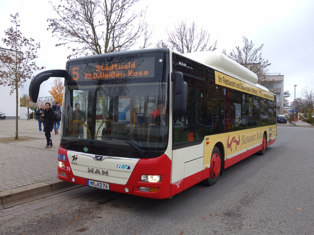 Germany, MAN A21 Lion's City NL313 CNG # 74