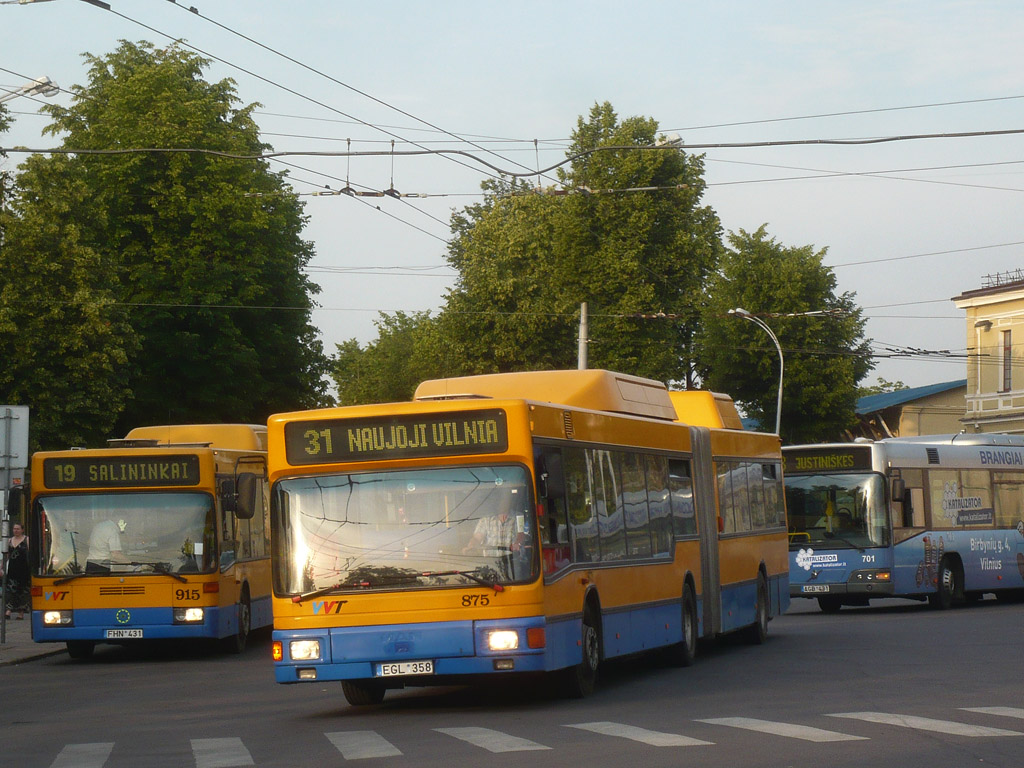 Lithuania, MAN A18 NG232 CNG # 875